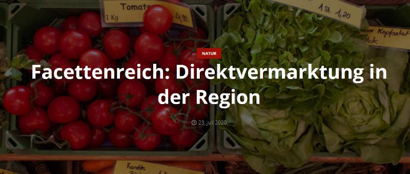 Direktvermarktung in der Region Ansbach